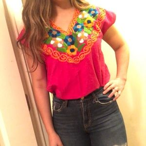 Tops - Handmade Mexican Blouse 💗